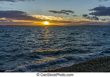 Golden Sunset Scene 6