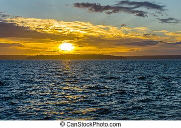 Golden Sunset Scene 7