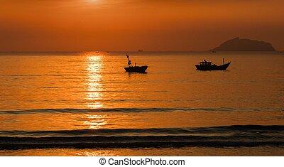 Golden Sunshine Morning Sky Vietnam