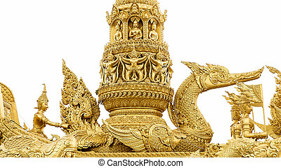 Golden swan statue in Buddhism
