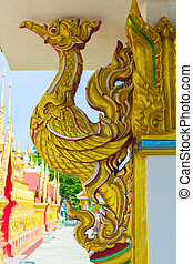 golden swan statue  Thai art