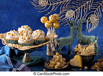 Golden sweets for christmas