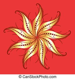 Golden Swirl Floral Design