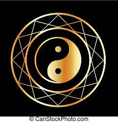 Golden symbol of Taoism Daoism