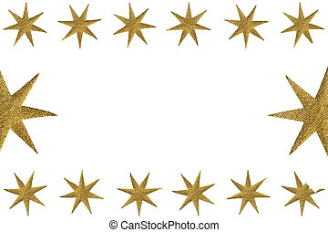 Golden symbolic stars as decoration - Golden symbolic stars...