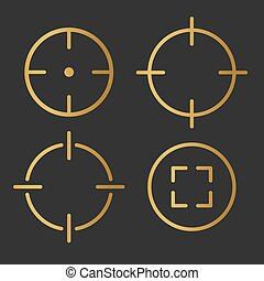 golden target, airm icon- vector illustration
