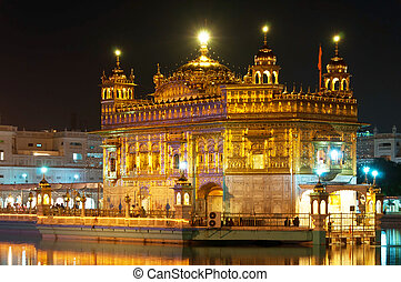Golden Temple of Darbar Sahib, the spiritual and cultural center of the Sikh religion, India