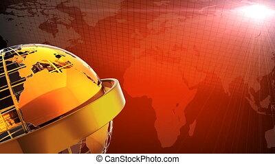 GOLDEN TERRESTIAL GLOBE