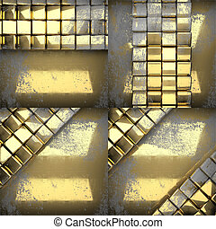 golden texture background set