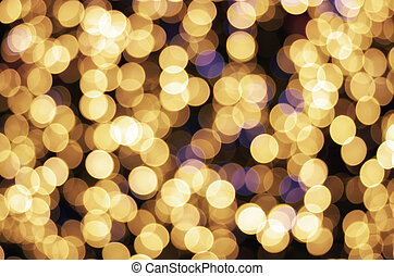 Golden texture bokeh of light.