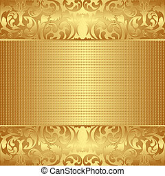 textured background - golden textured background with floral...