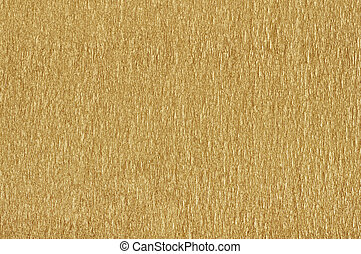 Golden  textured paper background closeup