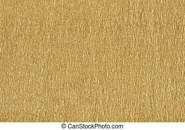 Golden  textured paper background closeup