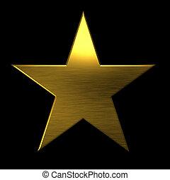 Golden textured star icon