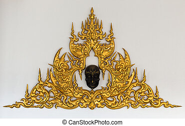Golden Thai style stucco