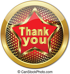 Golden Thank You button