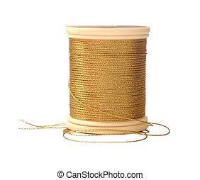golden sewing thread