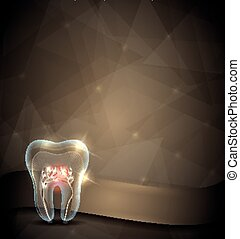Golden tooth brochure, beautiful transparent tooth design