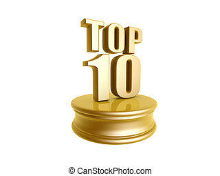 top ten in rank list - golden top ten in rank list trophy...