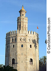 Golden tower in Sevilla. - Golden tower (Torre del Oro) in ...