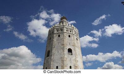 Golden Tower in Seville, Spain