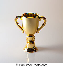 Real Gold Metal Trophy Stock Photography