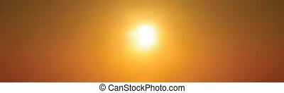 Golden twilight - Setting sun against golden sky, beautiful...