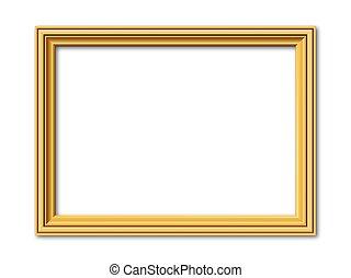 golden vector frame - golden vintage style vector frame to...