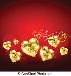 golden vector heart