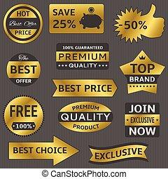 Golden vector labels