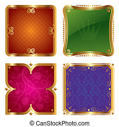 Golden vector ornate frames