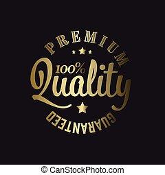 Golden Vector premium quality stamp