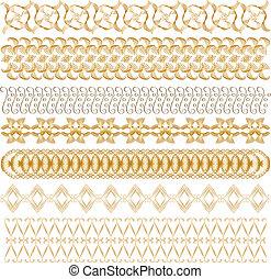Golden vector trims
