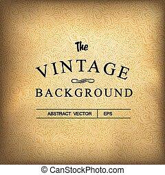 Golden vintage background. Vector template