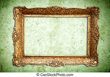 golden vintage empty frame