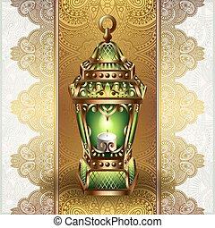 golden vintage lantern