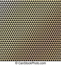 Golden vintage pattern on black background. Vector...