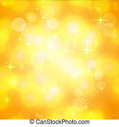 Golden Vintage shining festive background