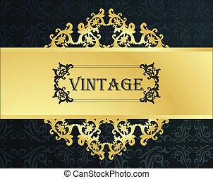 Golden vintage vector background