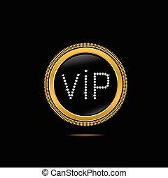 Golden VIP badge