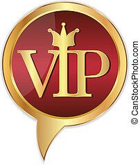 Golden VIP stickers