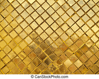 Golden wall - Beautiful mosaic golden wall