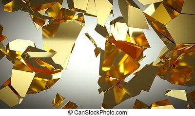 Golden wall shatter as financial crisis or decline concept....