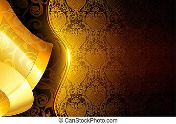 Golden wallpaper background, eps10