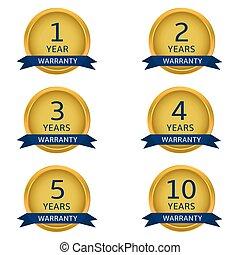 Golden warranty labels