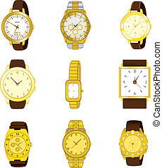 Golden Watch Collection - Collection of nine different ...