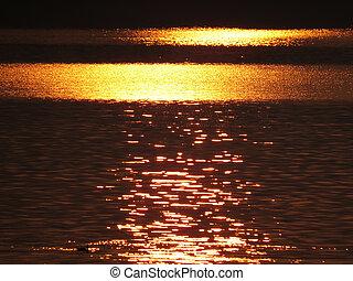 Golden Water Background