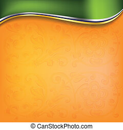 golden wave on orange background