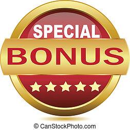 Golden Web button bonus. Vector