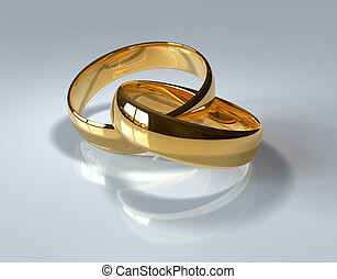 Golden wedding rings  - Golden wedding rings